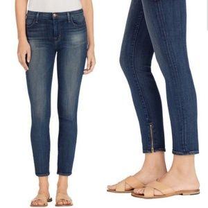 J Brand Skinny Zipper Ankle Jeans